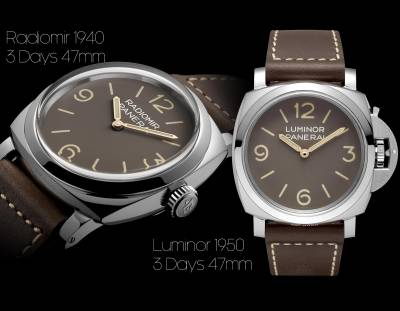 OFFICINE PANERAI - Radiomir 1940 - 3 Days 47mm & Luminor 1950 - 3 Days 47mm